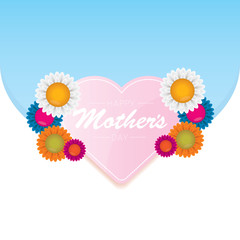 vector happy mothers day vector greeting card