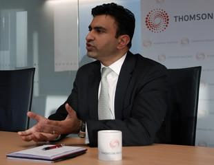 Jahangir Aka, Senior Executive Officer at SEI, speaks during the Reuters Islamic Finance Summit in Dubai