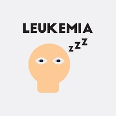 insomnia Vector. various symptoms of leukemia fatigue