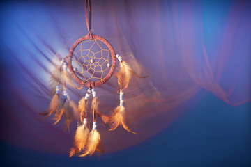 dreamcatcher on a color background