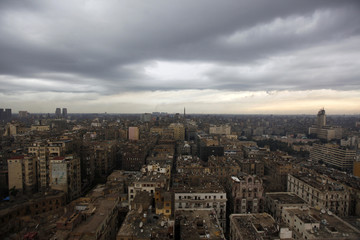 A general view of the stormy sky in Cairo, Egypt