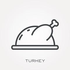 Line icon turkey