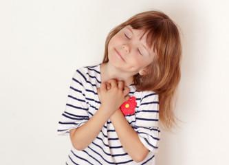 Portrait of small pretty girl