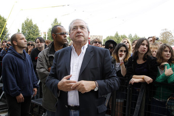 Jean-Paul Huchon, president of the Ile-de-France region attends the Rock en Seine Festival in Saint-Cloud, near Paris