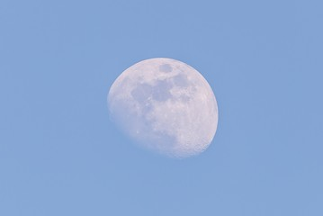 Nice big moon captured during the day few days before full-moon