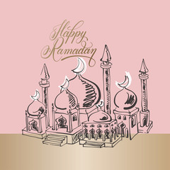 Ramadan modern greeting card design