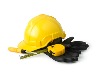 construction tools isolated