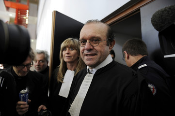 French lawyer Temine, representing the head of Servier pharmaceutical firm speaks to the media after the opening session in the Mediator drug trial in Nanterr