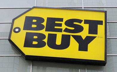 File photo of Best Buy logo seen at a store in Toronto