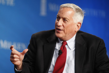Walter Isaacson, president and CEO of the Aspen Institute, gestures during an event at the Milken Institute Global Conference in Beverly Hills