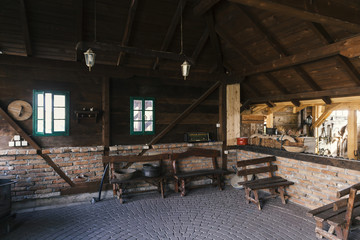 old Serbian house interior