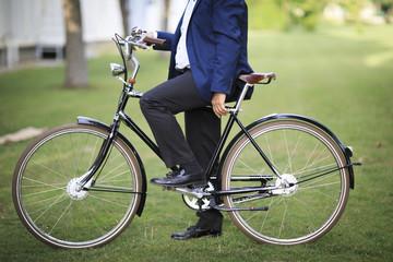 Businessman Cycling