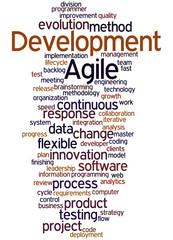 Agile Development, word cloud concept 3
