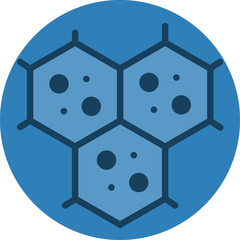 Multicellular Cell Structure Icon. Vector Icon for multicellular microscopic view.