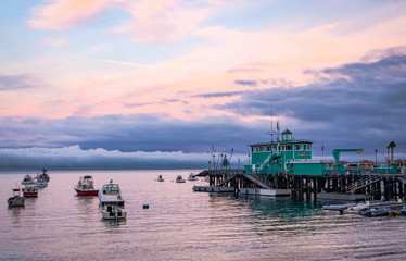 Tranquil Avalon Harbor at Sunset on Catalina Island California