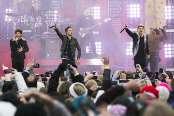 One Direction performs on ABC's Good Morning America program inside Central Park in New York