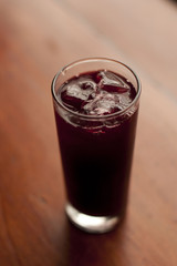 Purple Chicha.Peruvian refreshing purple beverage.