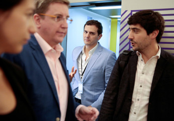 Ciudadanos party leader Rivera visits the Google's Campus Madrid, Spain
