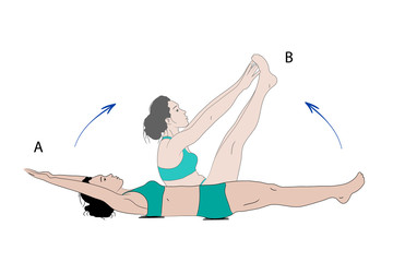 Sporty woman making crunches exercise