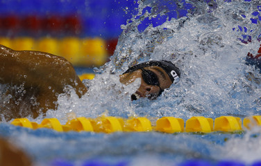 Paltrinieri of Italy swims in the men's 800m freestyle heats at the European Swimming Championships in Berlin