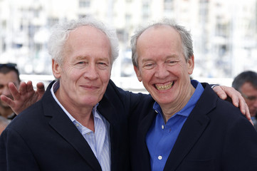 """Directors Jean-Pierre Dardenne and Luc Dardenne pose during a photocall for the film """"La fille inconnue"""" (The Unknown Girl) in competition at the 69th Cannes Film Festival in Cannes"""
