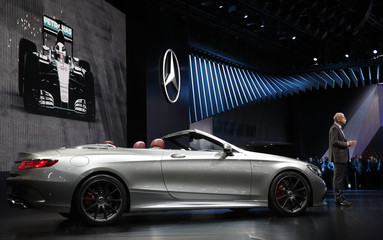 Mercedes Benz's Zetsche introduces the 2016 Mercedes-AMG S 63 4matic Cabriolet 'Edition 130' at the North American International Auto Show in Detroit, Michigan