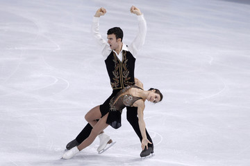 Duhamel and Radford of Canada perform during the Pairs Short Program in the Bompard Trophy event at Bercy in Paris