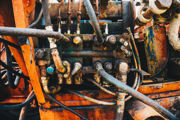 Hydraulic Tube Bender Mechanism Close-up