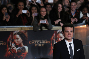 "Actor Josh Hutcherson arrives for the world premiere of ""The Hunger Games : Catching Fire"" in London"