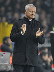 AS Roma's coach Ranieri reacts during the Italian Serie A soccer match against Juventus in Turin