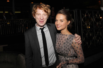 """Gleeson and Vikander attend the afterparty for the premiere of the movie """"Anna Karenina"""" in Los Angeles"""