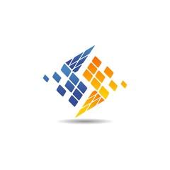 abstract storage logo
