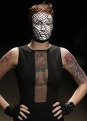 A model presents a creation from Auslander's 2010 Autumn/Winter collection during the Fashion Rio Show in Rio de Janeiro