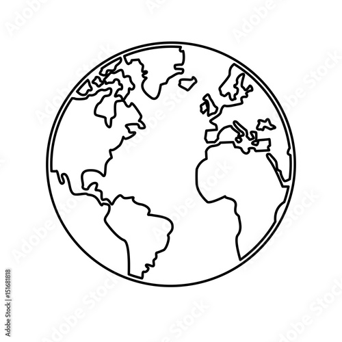 World map earth globes cartography continents outline vector world map earth globes cartography continents outline vector illustration gumiabroncs Images
