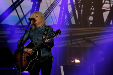 Honorary degree recipient and musician Lucinda Williams performs at the Berklee College of Music Commencement Concert in Boston