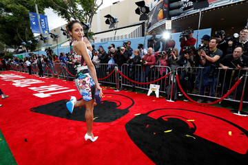"""Actress Ramirez poses at the premiere for """"The Angry Birds Movie"""" in Los Angeles"""