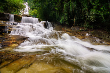 Lata Kinjang waterfall, located in Tapah, Perak, Malaysia is one of the outdoor attraction for the local people or tourist to observe and enjoy the nature beside can swim is very cold and fresh water.