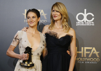 Shailene Woodley and Laura Dern pose backstage at the Hollywood Film Awards in Hollywood