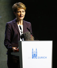 Swiss President and Justice Minister Sommaruga gives a speech at the 20th IAP Annual Conference 2015 in Zurich