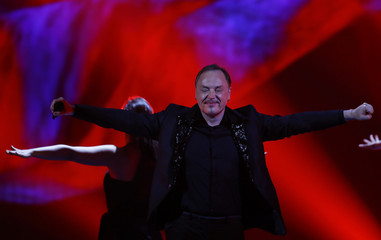 """Singer Knez representing Montenegro performs the song """"Adio\"""