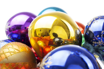 Christmas bauble baubles glass ball balls ornament ornaments with text space