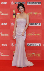 South Korean actress Seo poses for the media at the 8th Korea Film Awards in Seoul