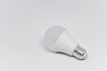 LED bulb on the white background