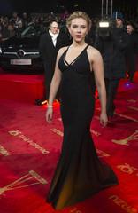 US actress Johansson arrives on red carpet for 'Goldene Kamera' awards ceremony in Berlin