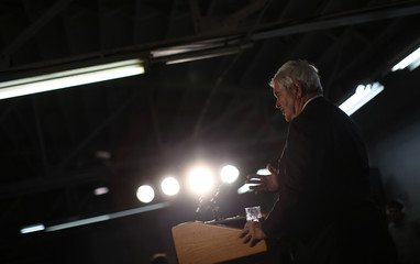U.S. Republican Presidential candidate and former Speaker of the House Newt Gingrich speaks during a campaign stop in Davenport