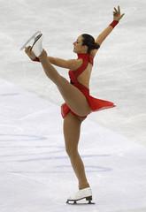 Pieman of Belgium performs during the women's short program at the ISU World Figure Skating Championships in Nice