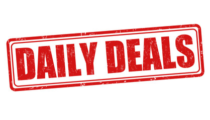 Daily deals sign or stamp