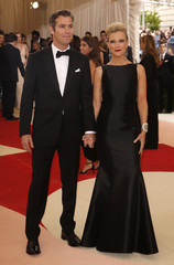Journalist Megyn Kelly and husband Douglas Brunt arrive at the Met Gala in New York