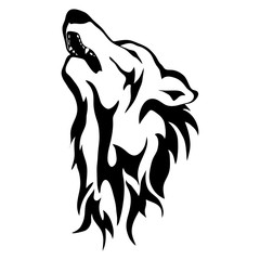 Isolated illustration of the wolf's head