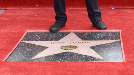 "Jeff Lynne receives a star on the ""Hollywood Walk of Fame"" in Los Angeles"